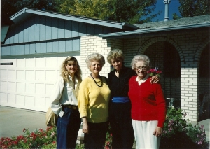 My Cousin, Aunt, Mom and Grandma
